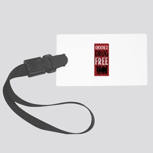 Choose to be Drug Free Luggage Tag