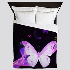 Butterfly in Space Queen Duvet