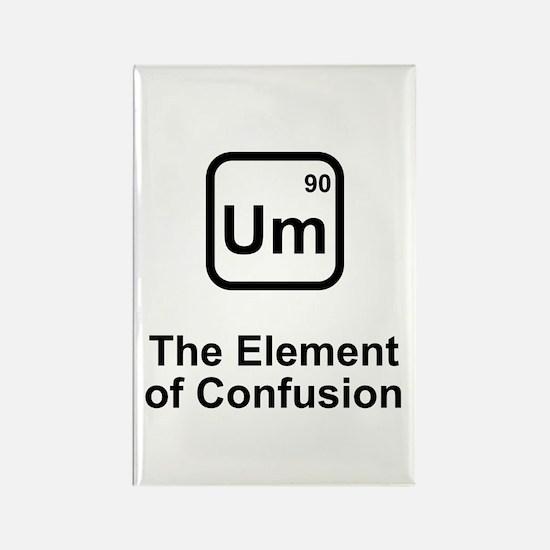 Um Element of Confusion Rectangle Magnet