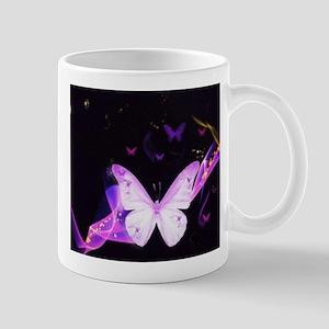 Butterfly in space. Mugs
