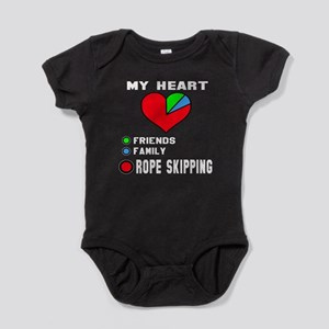 My Heart Friends, Family and Rope sk Baby Bodysuit