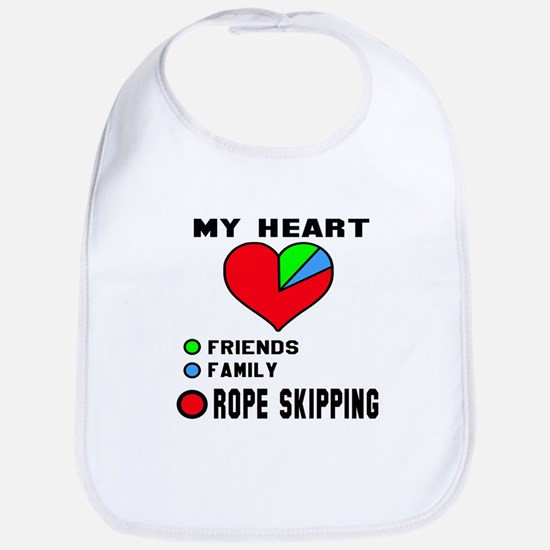 My Heart Friends, Family and Rope Cotton Baby Bib