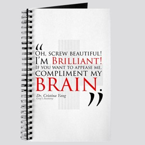 Screw Beautiful! I'm Brilliant! Journal