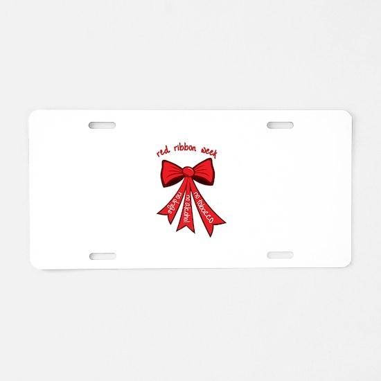 Red Ribbon Week Aluminum License Plate