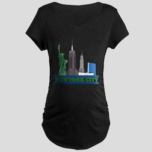New York City Skyline Maternity T-Shirt