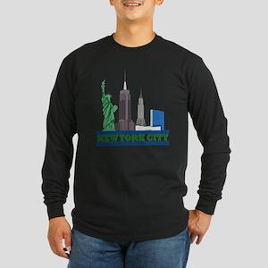 New York City Skyline Long Sleeve T-Shirt