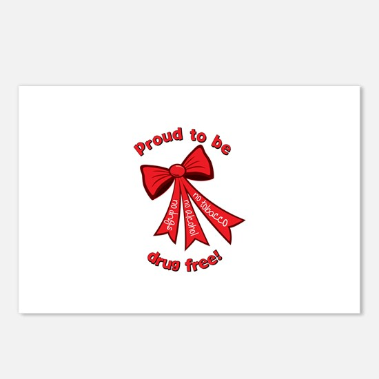 Proud to be Drug Free Postcards (Package of 8)
