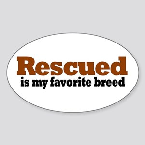 Rescued Breed Oval Sticker