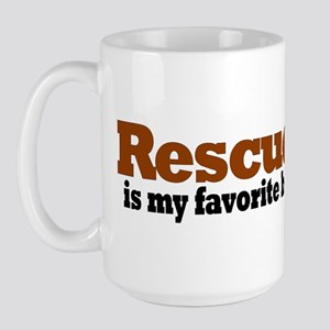 Rescued Breed Large Mug