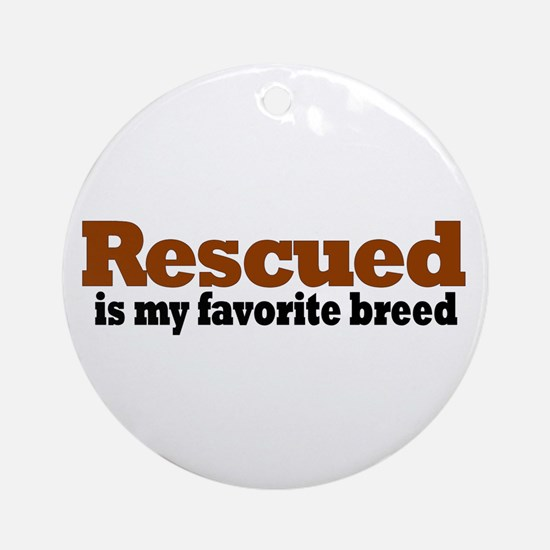 Rescued Breed Ornament (Round)