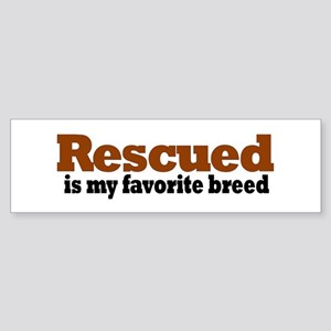 Rescued Breed Bumper Sticker