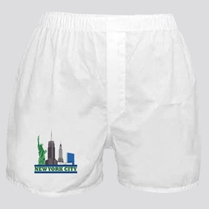 New York City Skyline Boxer Shorts