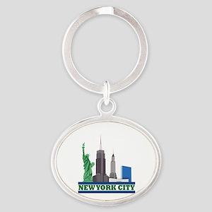 New York City Skyline Keychains