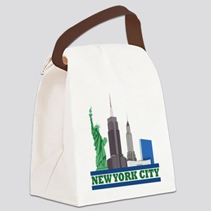 New York City Skyline Canvas Lunch Bag