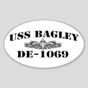 USS BAGLEY Sticker (Oval)