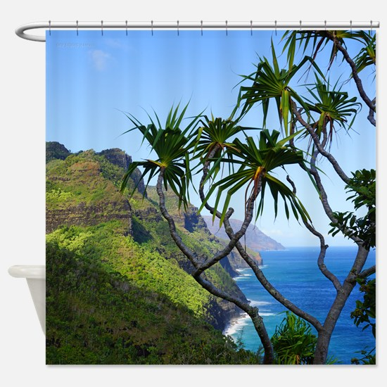 Kalalau Trail Kauai Hawaii Tropical Shower Curtain