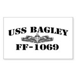 USS BAGLEY Sticker (Rectangle)