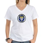 USS BAGLEY Women's V-Neck T-Shirt
