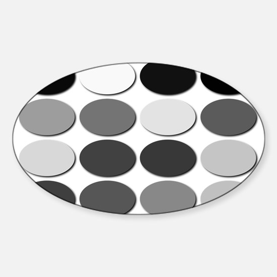 HD DVD Hex Gray Scale Code Oval Decal