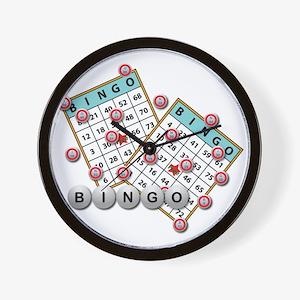 Bingo Cards Wall Clock