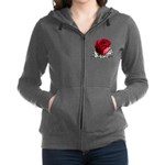 Red Rose Women's Zip Hoodie