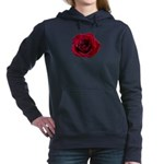 Red Rose Women's Hooded Sweatshirt
