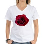 Red Rose Women's V-Neck T-Shirt