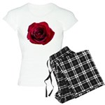 Red Rose Women's Light Pajamas