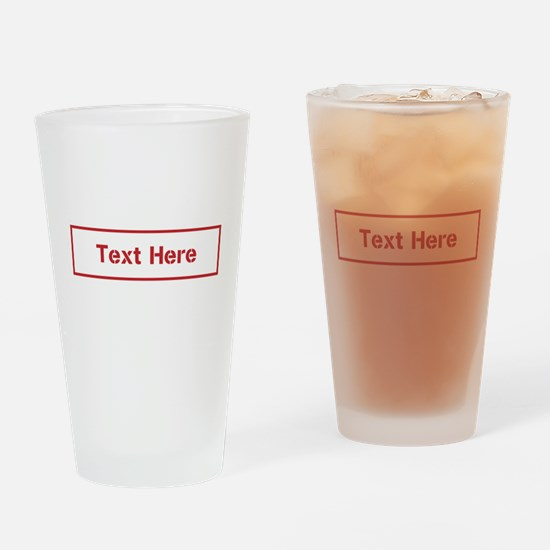 Custom Cargo Label Drinking Glass