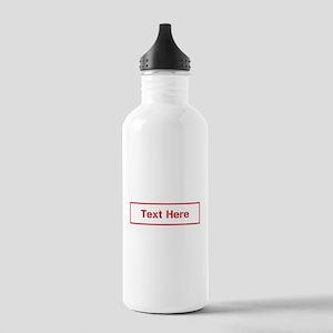 Custom Cargo Label Water Bottle