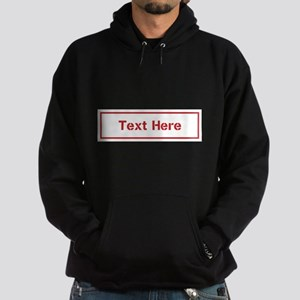 Custom Cargo Label Hoodie
