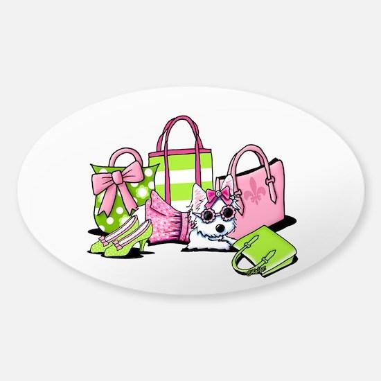 KiniArt Girlie Things Olivia Sticker (Oval)