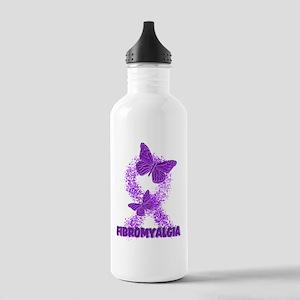 FIBROMYALGIA RIBBON BY CANDIDOG Water Bottle