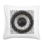 Mosaic-Woofer Square Canvas Pillow