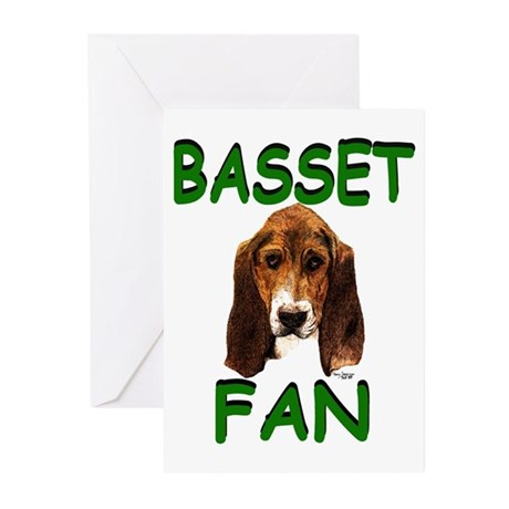 Basset Fan Greeting Cards (6)