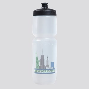 New York City Skyline Sports Bottle