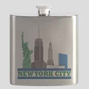 New York City Skyline Flask