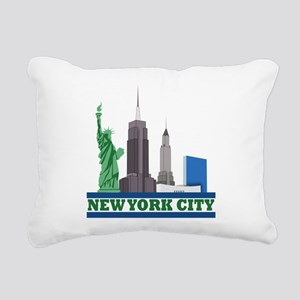 New York City Skyline Rectangular Canvas Pillow
