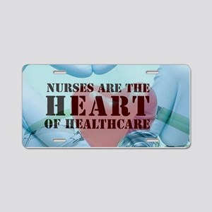 Nurses hearthealthcare Aluminum License Plate