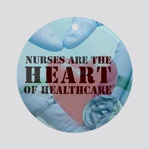 Nurses hearthealthcare Ornament (Round)