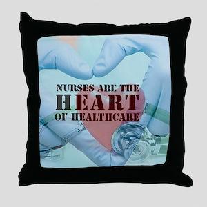 Nurses hearthealthcare Throw Pillow