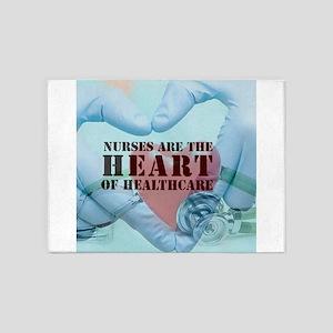 Nurses hearthealthcare 5'x7'Area Rug