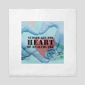 Nurses hearthealthcare Queen Duvet