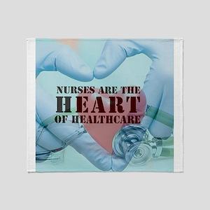 Nurses hearthealthcare Throw Blanket