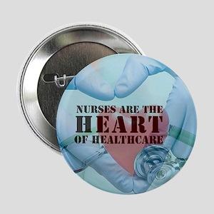 """Nurses hearthealthcare 2.25"""" Button (10 pack)"""