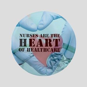 """Nurses hearthealthcare 3.5"""" Button"""