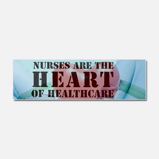 Nurses hearthealthcare Car Magnet 10 x 3