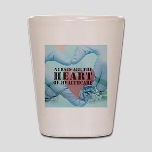 Nurses hearthealthcare Shot Glass