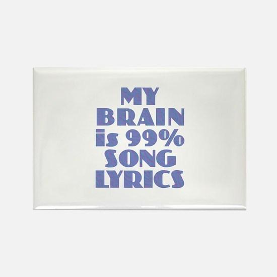 Brain 99% Song Lyrics Magnets