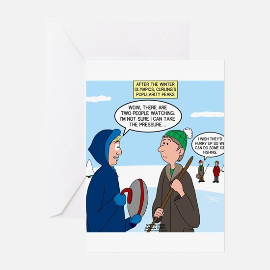 Ice Curling Popularity Greeting Card
